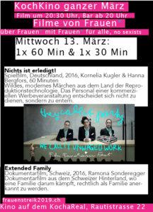 KochKino: Nichts ist erledigt! & Extended Family @ Kino auf dem KochaReal