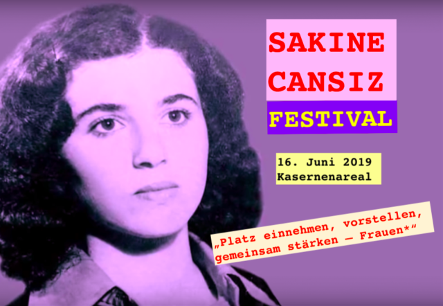 Sakine Cansız Festival. 16. Juni 2019 Kaserneareal