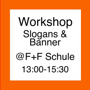 Icno für Workshop Parolen und Banner