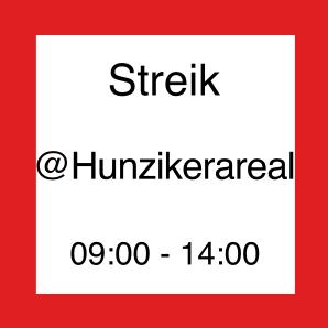 Icon zum Streik auf dem Hunziker-Areal