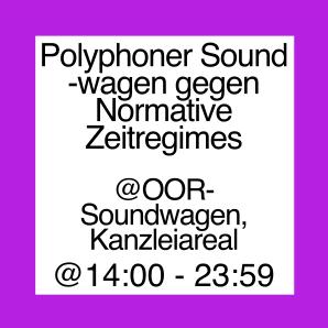 Icon für den polyphonen Soundwagen gegen normative Zeitregimes