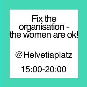 "Icon zur Aktion ""Fix the Organisation - Women are ok!"