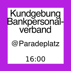 Icon zur Kundgebung des Bankenpersonal