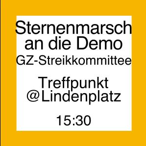 Icon für den Sternmarsch an die Demo vom Lindenplatz aus