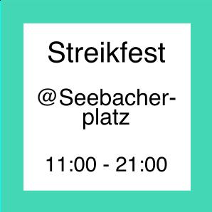 Icon zum Streikfest auf dem Seebacherplatz