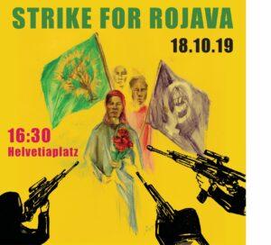Streik für Rojava @ Helvetiaplatz