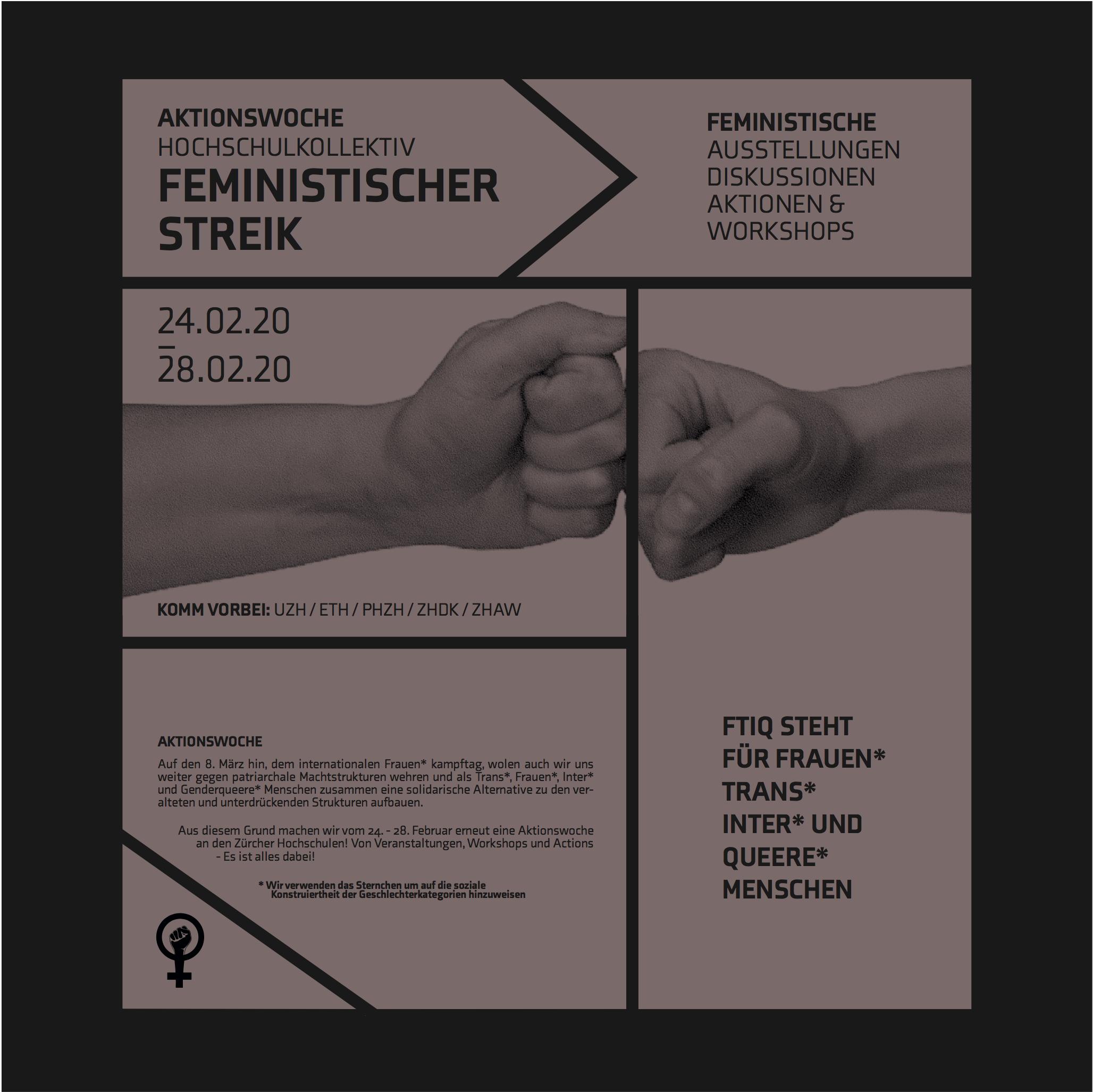 feministische Aktionswoche des hochschulkollektivs der zürcher Hochschulen
