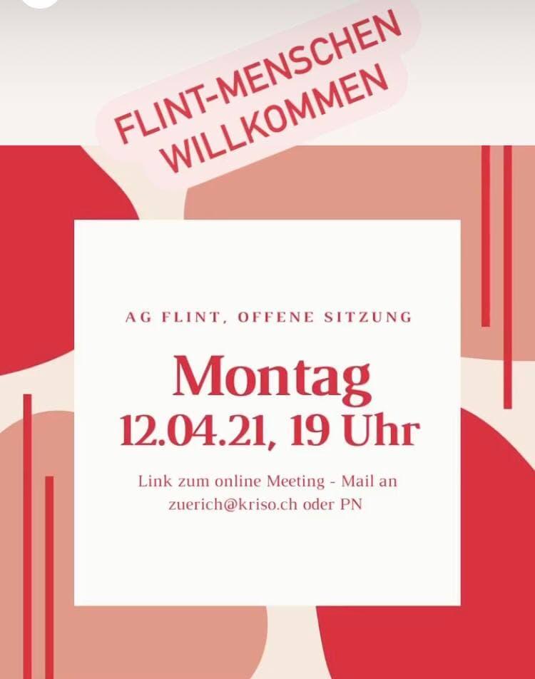 Bild mit Daten zu AG FLINT Sitzung vom 12.04.21.