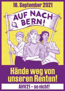Demo am 18. September 2021: Hände weg von unseren Renten @ Bern