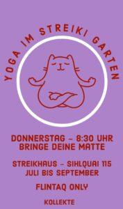 Yoga im Streiki Garten @ Feministisches Streikhaus