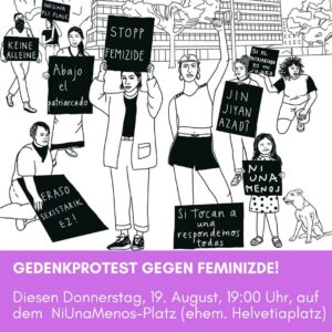 Gedenkprotest gegen Feminizide @ Ni Una Menos Platz
