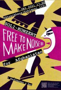 MAKE NOISE for AFGHANISTAN @ Streikhaus